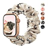 TOYOUTHS Compatible with Apple Watch Scrunchies Band Inspirational for Women Personalized Gift for Her Engraved Mantra Birthday Bracelet Elastic Cloth Scrunchy for Iwatch Series 6 5 4 3 2 1 38/40mm