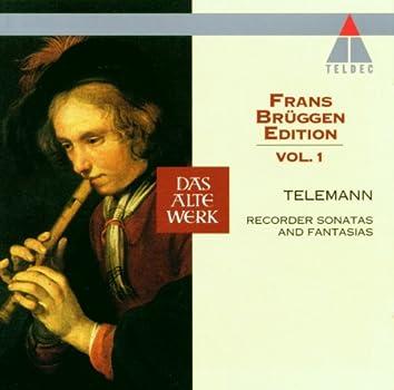 Telemann : Frans Brüggen Edition Volume 1 : Recorder Sonatas & Fantasias