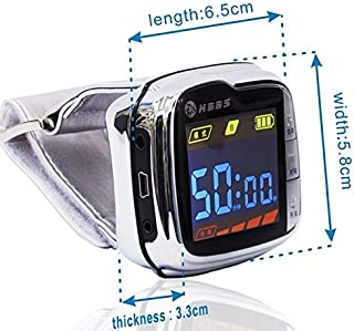 Laser Therapy Wrist Watch Red Light That Helps to Cure Diabetes, Hypertension, Cardiovascular Diseases, to Lower Blood Pre...