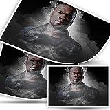 Modern Art Poster 50 Cent Rapper Poster Gemälde gedruckt