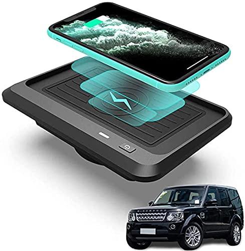 QXIAO Cargador Coche Inalámbrico,para Land Rover Discovery Sport 2020-2015 Panel Accesorios Consola Central Tablero de Carga inalámbrica para automóvil,10W Qi Cojín del Cargador Inteligente
