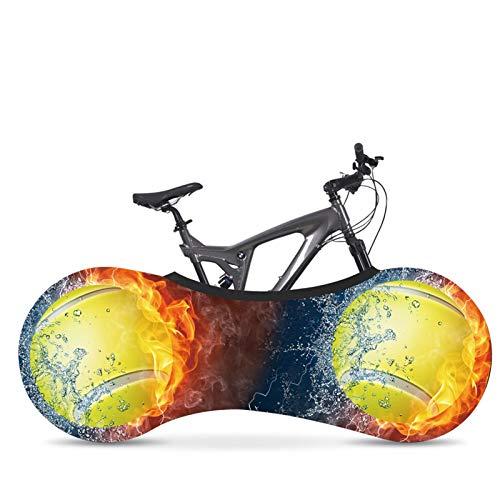 AGQH Universal Interior Cubierta de la Bici para el Almacenamiento, con Estampado de béisbol, Funda para Bicicleta de Carretera MTB Mantiene limpios los Suelos y Las Paredes de tu casa