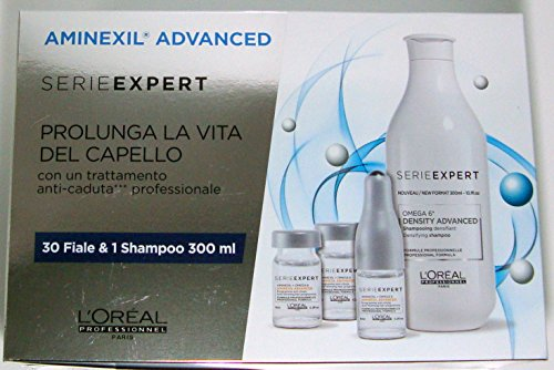 L'oreal Aminexil Advanced 2018 Trattamento Anti-caduta Professionale 30 fiale + shampoo 300ml