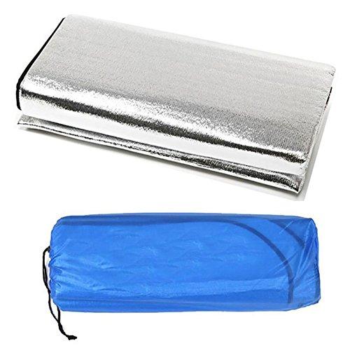Reefa Tapis de Sol Camping Double Face en Aluminium Isolation Thermique et Hydrofuge Pour Camping Plage Pique-nique Randonnée-3 tailles