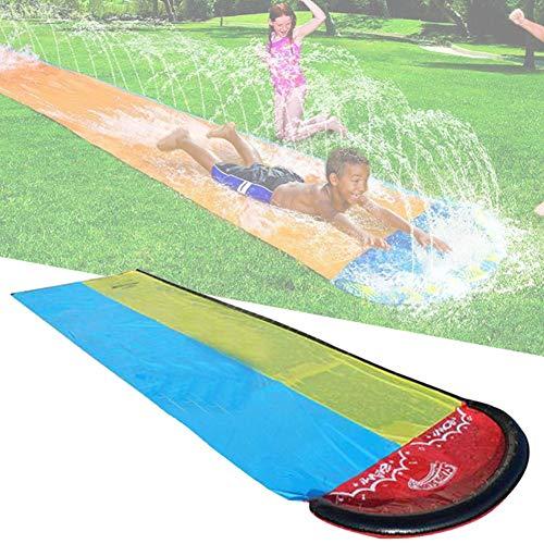 slip n slide, Toboganes acuáticos para césped, Tobogán acuático para niños, Spray de tobogán acuático para carreras de jardín para niños Niños Patio trasero de verano Juegos de piscina Juguetes