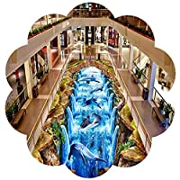 YANGJUN 廊下用カ敷きカーペット ラグ ランナー 長いです 滑り止め 柔らかい 無味 洗える シンプル 滝 3D リアル 、 に適し 家庭 ホテル、 カット可能 カスタマイズ可能 (Color : A, Size : 0.8x2.6m)