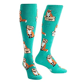 Sock It To Me Women s Foxes in Boxes Knee High Socks