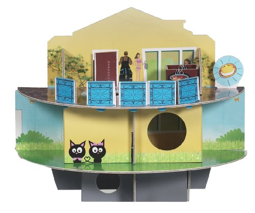 Habitrail OVO Doll House Carboad Hamster Maze, Hamster Cage Accessories for Small Animal Habitats
