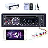 UNITOPSCI Single Din Car Stereo in-Dash DVD Player Support Bluetooth Audio and Hands-Free Calling AUX in/USB/SD Card/CD/DVD/Car MP3 Player FM Radio Video Output Wireless Remote Control Video Receiver