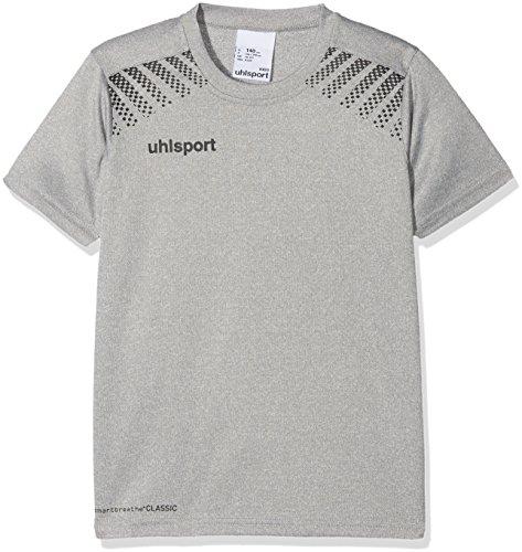 uhlsport Herren Goal Polyester Training T-Shirt, Dark Grey Melange/Schwarz, 152