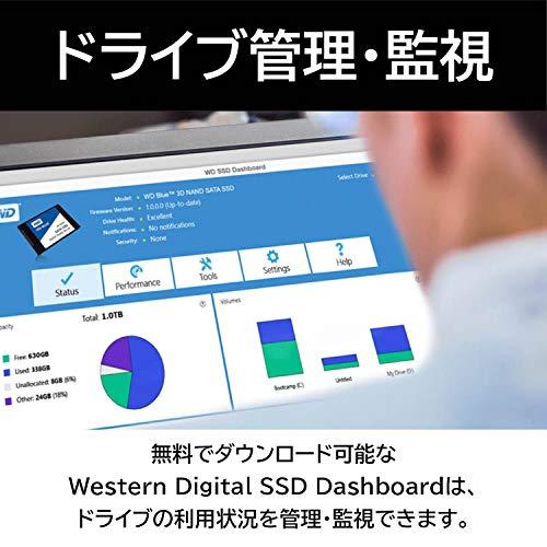 『Western Digital ウエスタンデジタル 内蔵SSD 250GB WD Blue PC M.2-2280 SATA WDS250G2B0B-EC 【国内正規代理店品】』の4枚目の画像