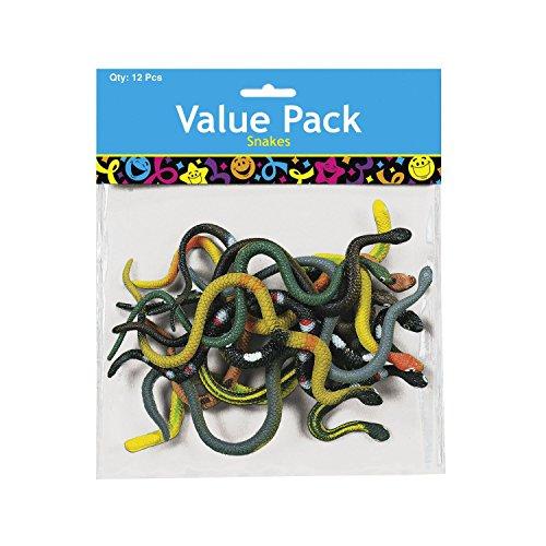 Palandi Schlangen Spielfiguren realistisch 12 Stück Mitgebsel Geburtstagstüte Sticker