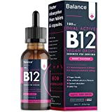 Balance Vitamin B12 Liquid Drops - High Strength 3000mcg - 60ml Dropper Bottle - Vegan Friendly - Sublingual...
