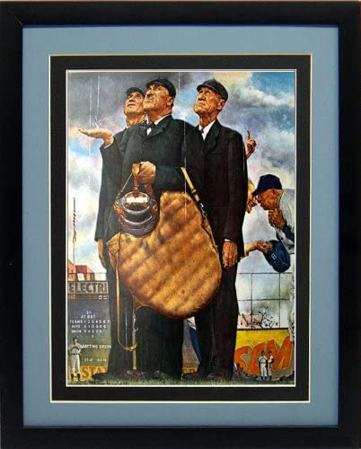 2021 model Norman Rockwell Baseball Print Brooklyn the of Recommended 6t Dodgers