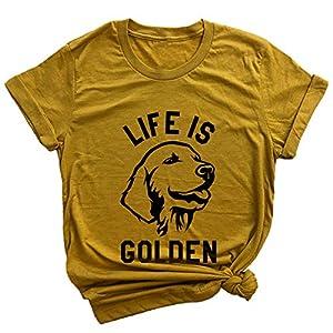 Spunky Pineapple Life is Golden Funny Dog Golden Retriever Premium T-Shirt