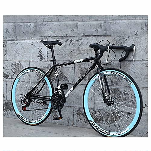 Bicicleta De Carretera para Hombres Y Mujeres Rueda De 26 '' Acero con Alto Contenido De Carbono Bicicleta De Ciudad para Adultos 24 Velocidades Llanta Ancha De 4 Cm Carretera,C