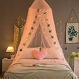 Cortas con Dosel de Cama Estrellas de Red para niñas Boys Adultos Jugando Juegos Casa Decoración de Dormitorio Flesh Color