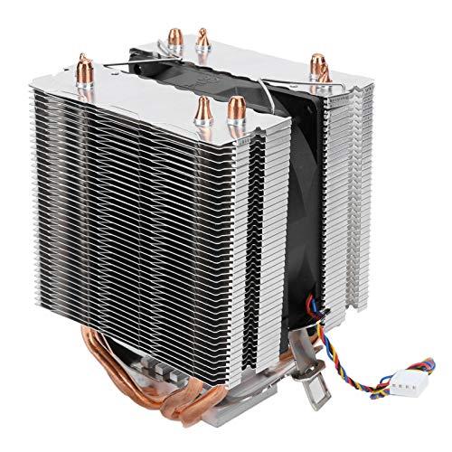 PUSOKEI Enfriador de CPU con 4 heatpipes, disipador de Calor de Doble Torre, 4 heatpipes de CPU para LGA2011 1366 1150 1151 1155 1156, disipador de Calor de CPU para PC