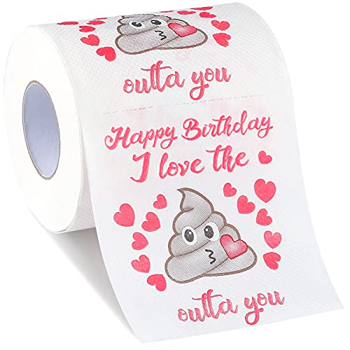 Birthday Gifts for Women and Men Funny Toilet Paper Gag Gift - Romantic Novelty Gag Gifts for Her...