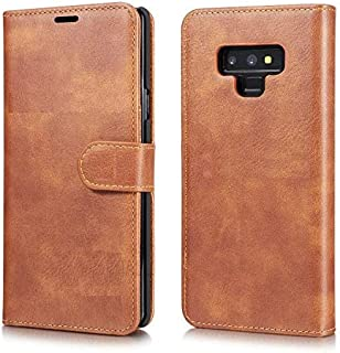 Samsung Galaxy Note 9 Retro Style Wallet Leather Stand Case Cover DG MING- Brown