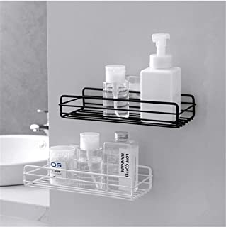 AM ANNA Adhesive Bathroom Shelf Organizer Shower Caddy Kitchen Spice Rack Wall Mounted No Drilling - 2 Pack
