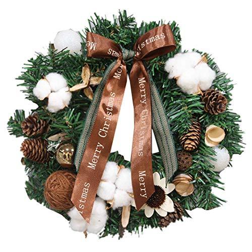 CHHD Weihnachtskranz Blume Pinienkerne Nüsse Nüsse Bänder Weihnachtskranz Geschenkkranz Shop Dekoration Display Rack 40Cm