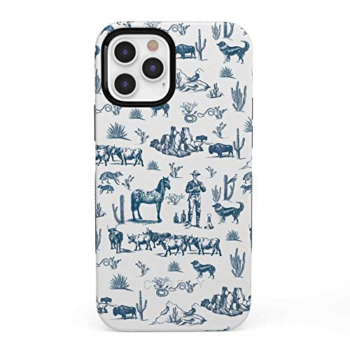 Casely iPhone 12/12 Pro Phone Case - Wild West Adventure | Desert Case 360 Degree Coverage for Your Phone - Precise Cutouts, 1mm Raised Lip Camera Protection - Bold