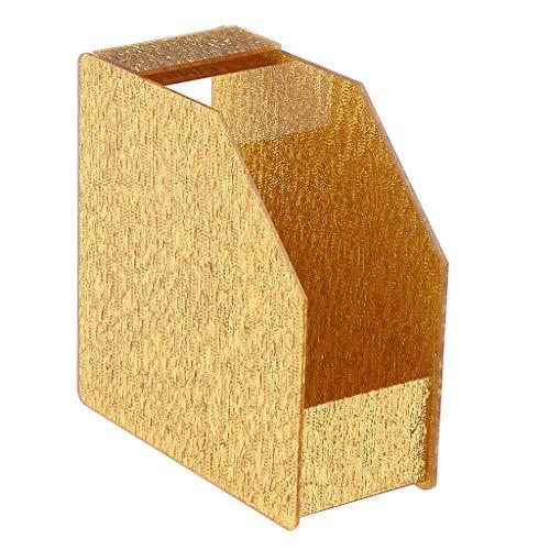 B Baosity Organisateur Présentoir Maquillage Boîte de Rangement Faux Cils Présentoir Carte de Couleur Vernis à Ongles 12 x 12 x 5 cm - Givre Doré