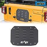 EAG Black Steel Tailgate Vent-Plate Cover Fit for 18-20 Wrangler JL