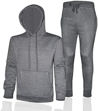 Prime Sports Men/'s Heavy Pullover Fleece Hoodie Jogger Training Sweatsuit Set