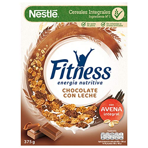 Cereales NESTLÉ Fitness con chocolate con leche - Copos de