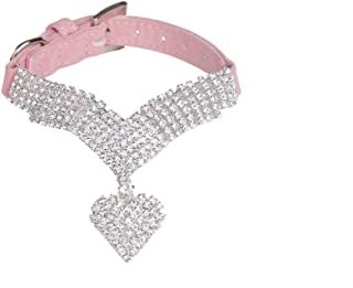 EXPAWLORER Rhinestone Dog Collar Pet Puppy Cat Crystal Collars Girl Jeweled Necklace