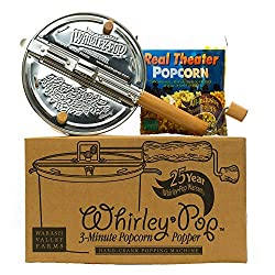 Buy Whirley Pop Stainless Steel Stovetop Popcorn Popper – Popcorn Set with Popping Kit