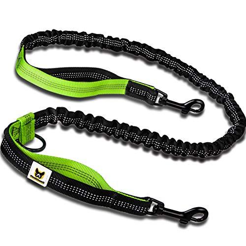 Bungeeteil für Kleine Hunde bis 15 kg passend zur Joggingleine   Dehnbar von 110 bis 160 cm   Ersatzleine oder Verlängerung mit 2 Schlaufen