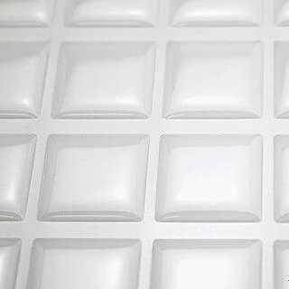 IGOGO 18.5x20.4mm Square Epoxy Stickers Fits Scrabble Tiles or Pendants Clear Color, 105 PCS