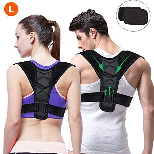 Gifort Haltungstrainer, Geradehalter zur Haltungskorrektur für eine Gesunde Haltung, ideal zur Therapie für haltungsbedingte Nacken, Rücken und Schulterschmerzen (L Size: 90-120cm)