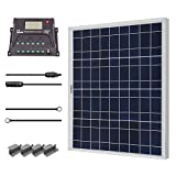 Renogy 50 Watts 12 Volts Polycrystalline Solar Starter Kit with 10Amp PWM Charge Controller, Z...