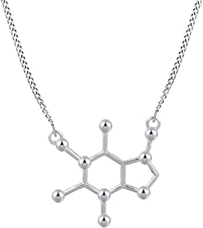 diamond molecule necklace