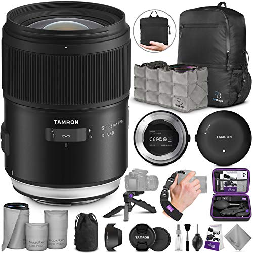 Tamron SP 35mm f/1.4 Di USD Lens for Nikon F + Tamron Tap-in Console with Altura Photo Essential Accessory and...