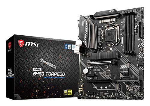 MSI MAG B460 TORPEDO ATX Scheda Madre(10th Gen Intel Core, LGA 1200 Socket, DDR4, CF, Dual M.2 Slots, USB 3.2 Gen 1, Type-C, 2.5G LAN, DP/HDMI)