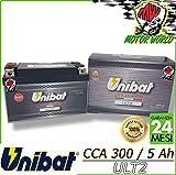 ULT2 Batería Unibat Litio Cca 300 Garantía 2 Años YT7B-BS YT9B-BS YT12B-BS YT14B-BS YTZ10S-BS YTZ12S-BS YTZ14S-BS YB16AL-A2 YTX9-BS YTX12-BS YT12A-BS YT12B-BS