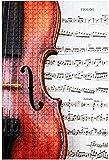 Rompecabezas de madera 1000 piezas de violín en partituras clásicas...