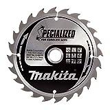 Lame de scie circulaire spécialisée de 165x 20mm avec 24 dents, de couleur rouge/argent, pour scie sans fil - Makita B-09173
