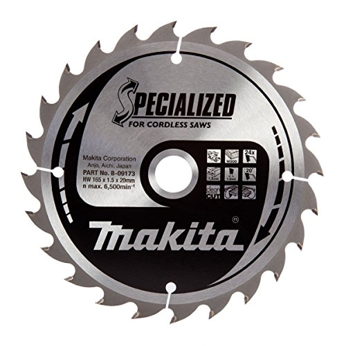 Makita Original Specialized Kreissägeblatt 165x20 24Zähne extra dünn nur 1,5mm für Akkukreissägen BSS/DSS 610/611 DHS630