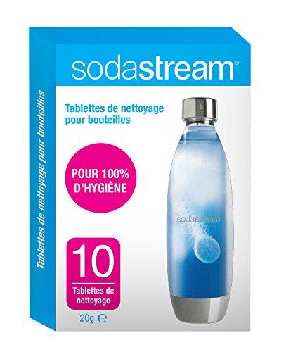 SodaStream Reinigungstabletten, Karton, 11°x°2°x°17°cm, Weiß/Blau, 10Stück