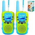 Walkie Talkies for Kids, Birthday Gift Kids Toys for 3 4 5 6-12 Year Old Boys Girls, Long Range 3 KMs 22 Channels 2 Way Radio with Flashlight, Best Indoor Outdoor Toys for Games Camping Hiking, 2 Pack