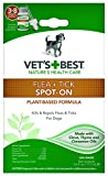 Vet's Best Flea and Tick Spot-on Drops | Topical Flea Treatment Drops for Dogs | Flea killer with Certified Natural Oils | 3-8 Month Supply for Various Dog Sizes