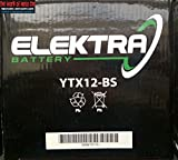 BATTERIA ELEKTRA YTX12-BS PER KYMCO Xciting I R 300 2008-2014 12V 10 Ah CON ACIDO