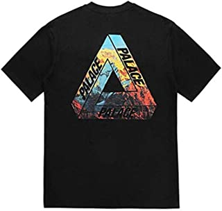 Ciino Palace Triangle Colored Printed Loose Casual Crewneck T-Shirt for Men/Women