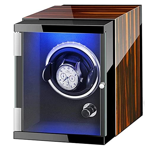Angelay-Tian Caja enrolladora de Reloj automática con 1 Posiciones de enrollador de Reloj Luces de Ambiente Coloridas para Hombres y Mujeres Regalos del día de San Valentín Regalos de cumpleaños